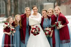 A beautiful winter wedding at Christmas at Saint Peter Catholic Church in Pittsburgh's North Side followed by a reception at Pittsburgh Golf Club   Pittsburgh Wedding Photographers   Aaron Varga Photography
