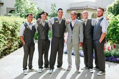 Hanna + Kenny Wedding Photo By Elena Graham Photography Groomsmen in grey vests and converse Mother Of The Bride Flowers, Father Of The Bride, Glorious Days, May Weddings, Grey Vest, Party Entertainment, Maid Of Honor, Groomsmen, Graham