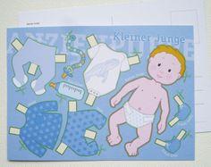 Postkarte -KLEINER JUNGE- von Fische & Schafe auf DaWanda.com
