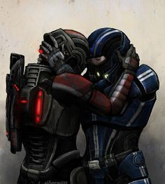 """""""The gentle knock of their helmets is all they get sometimes. A whispered """"stay safe"""" or """"thank god."""" rasped from the suit comms. """"I love you."""" said so softly it might be an illusion to anyone else listening in. Layers of ceramic and polymer and carbon acting like skin (and Kaidan swears he can feel Shepard through all of it) as he pulls the black helmet towards his. And they stay like that for just a moment - unmoving, breathing together.  Stay Safe. Thank God. I love you. -~JoAsakura"""