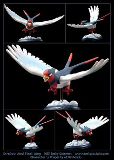 Commission : Swellow Used Steel Wing by emilySculpts