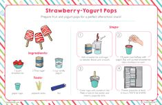 Strawberry-Yogurt Pops and Yogurt Science – Raddish Kids Kids Cooking Recipes, Cooking Classes For Kids, Kid Cooking, Kid Recipes, Easy Meals For Kids, Kids Meals, Orange Cream Popsicles, Homemade Ranch Dip, Kids Cookbook