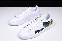 online store 1e23b 184b1 Buy adidas Womens Originals Stan Smith White Green Golden B28012 Shoes