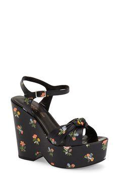 Saint Laurent 'Candy' Floral Print Platform Sandal (Women) available at #Nordstrom