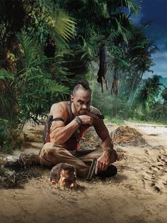 View an image titled 'Vaas & Jason Art' in our Far Cry 3 art gallery featuring official character designs, concept art, and promo pictures. V Games, Best Games, Far Cry Game, First Person Shooter Games, Arte Hip Hop, Mundo Dos Games, Playstation Games, Top Videos, Video Game Art