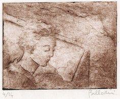 Gian Luigi Bellorini COLPO DI VENTO del 1984 puntasecca opera incisoria