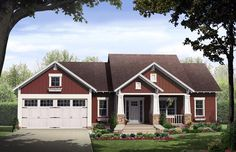 Bungalow Cottage Craftsman House Plan 59042