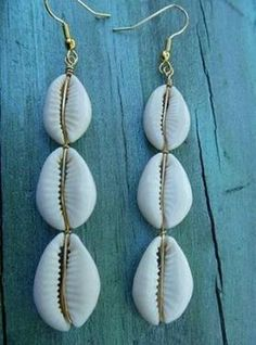 Bohemian Vintage Triple Cowrie Shell Pendant Drop Earrings Ethnic Dangle  Earrings for Women Fashion Jewelry bijoux 1b061a8c7687
