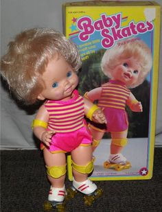 MATTEL: 1982 Baby Skates Doll #Vintage #Toys