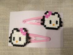 Hello Kitty Barrettes Hama/ Perler Pattern