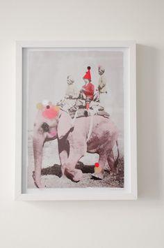 Creme of the crop // Choose your own ending Collages, Circo Vintage, Kunst Online, Art Du Collage, Design Art, Graphic Design, Design Ideas, Elephant Love, Elephant Walk
