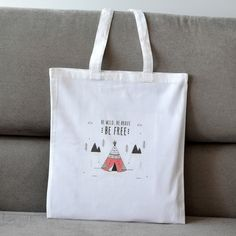 Items similar to Tote Bag, Funny Free & Wild Illustration. Cotton Made. on Etsy Reusable Tote Bags, Indian, Trending Outfits, Unique Jewelry, Handmade Gifts, Free, Vintage, Etsy, Kid Craft Gifts
