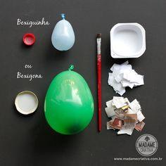 Como fazer cumbuca usando papel e cola-  Passo a passo com fotos - How to make a bowl using paper and glue - DIY tutorial  - Madame Criativa - www.madamecriativa.com.br