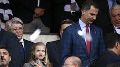 El Rey se lleva a la Princesa Leonor al fútbol