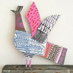 bird art diy Terra Cotta is part of Terra Cotta Clay Pot Diy Project For Your Garden Fab - Cardboard Sculpture, Cardboard Art, Bird Sculpture, Collaborative Art Projects For Kids, Bird Crafts, Art Club, Art Plastique, Teaching Art, Elementary Art