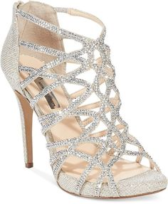 INC International Concepts Women's Sharee High Heel Rhinestone Evening Sandals