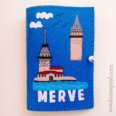 Keçe Kitap Kılıfı : Felt Book Case istanbul galata tower