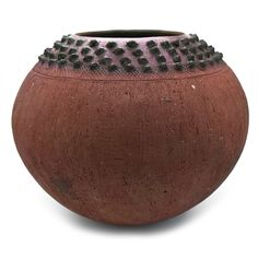 Large Ukhamba Pot by Jabu Nala from South Africa Natural Wood Furniture, Furniture Wax, Hand Built Pottery, Pottery Art, Black Color Palette, Clay Creations, Capricorn, Earthy, Printing On Fabric