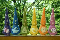 Wooden peg gnomes