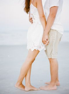 Photography: Rebecca Yale - rebeccayaleportraits.com Read More: http://www.stylemepretty.com/2014/10/21/seaside-engagement-session-at-crane-beach/