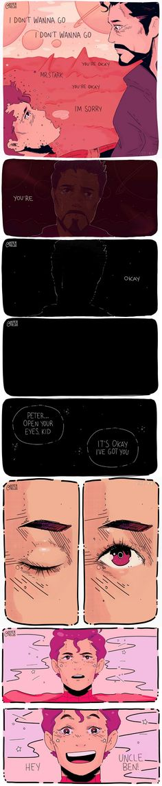 """""""Peter will be okay, he'll get to see his uncle ben for a little while"""" 