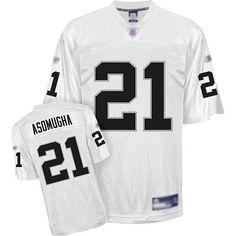 ec0b5ae0f97 Raiders  21 Nnamdi Asomugha White Stitched NFL Jersey