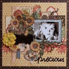 Flowers and Papers: Precious Layout Graphic 45. Graphic 45 French Country