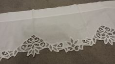 Vintage Battenburg lace valance - 60 x 14 inches. by TeresaScholleDesigns on Etsy