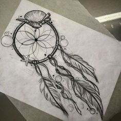 Sea theme dream catcher .. Email me to book tattoosByDenny@gmail.com #dreamcatcher#dreamcatchertattoo#seashelltattoo#tattoos#badappletattoo#vegastattooer#vegas#sketch#bubbles#wetdream
