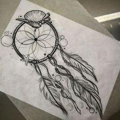 Sea theme dream catcher .. Email me to book tattoosByDenny@gmail.com #dreamcatcher#dreamcatchertattoo#seashelltattoo#tattoos#badappletattoo#vegastattooer#vegas#sketch#bubbles#wetdream