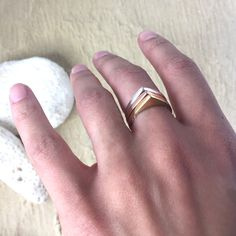 Contemporary tribal gold and silver rings. The perfect summer ring stack. Bohemian Jewellery, Tribal Jewelry, Gold Jewelry, Warrior Ring, Gold And Silver Rings, 925 Silver, Silver Ring Designs, Sea Glass Jewelry, Stacking Rings