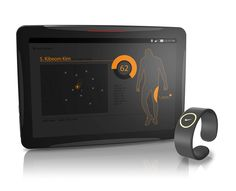 Designed specifically for the professional sports world, the Nike Coach is a digital tablet that works in tandem with a Bluetooth bracelet to monitor athletes' overall physical condition to streamline the process of tracking progress. A wide range of fitness applications and a durable, sporty design make it the perfect assistant on and off the field.
