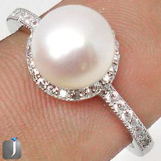 Pearl of Wisdom: A gorgeous silver ring with gracious white pearl..!!  #silverring  #ring  #jewelexi  #jewelry  #silverjewelry
