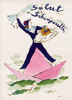 Schiaparelli (Perfumes) 1943 Salut Sailor Marcel Vertès