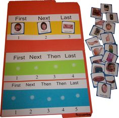 Following Directions Card Set: Following directions activity card set to accompany 3-5 Step Sequence Board. www.TheTherapyBag.com