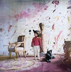 """The interior of artist Cy Twombly's home in Rome. Amazing. November 1966 issue of Vogue entitled """"Roman Classic Surprise"""". (via unknown inspiration)"""