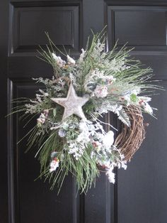 Christmas Wreath Free Shipping Winter Wreath by FunFlorals on Etsy