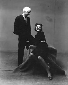 "Max Ernst and Dorothea Tanning. Photograph by Irving Penn. 1947. Copyright The Irving Penn Foundation. Dorothea Tanning was an artist and a late-blooming poet. She lived to age 105. ""Heaven's motes sift to salt - white - paint is ground to silence; and I, I am bound, unquiet, a shade of blue in the studio..."" Stanza from Sequestrienne. Dorothea Tanning from Poetry, April 2002"