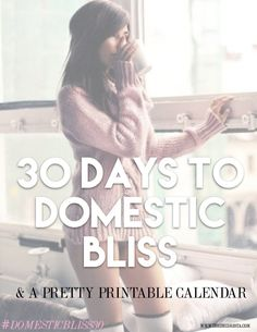 30 days to domestic bliss - the decorista. I will be trying out a few of these ideas spring cleaning.