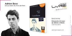 Lauréat du Grand prix du roman de l'Académie française, Adrien Bosc sera au #SDL2015 !