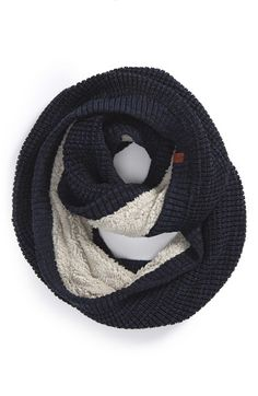 The fuzzy lining inside this wool infinity scarf looks totally yummy and warm!!!