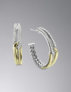 I would like to see these wih Screw Backs , Or Euro Wire Labyrinth Hoop Earrings with Diamonds