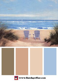 Natural color palette inspired by: Among Friends II, Art Print by Diane…