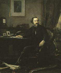 Madarász, Viktor   Baron József Eötvös Sketch    1858   Oil , Canvas  55 x 46 cm   Inv.: 50.71