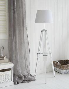 Grey tripod floor lamp grey decor perspective pinterest tripod white lexington floor lamp with chrome aloadofball Gallery