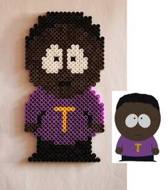South Park - Token Black hama perler beads by Xeina-rose-of-death