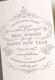 letterpress new years card greeting card box new year holidays new year card