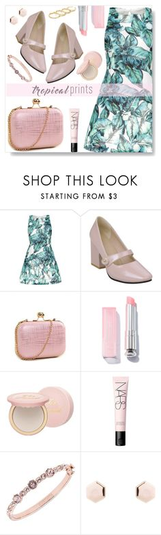 """""""Tropical Prints"""" by simona-altobelli ❤ liked on Polyvore featuring Too Faced Cosmetics, NARS Cosmetics, Givenchy and Fallon"""