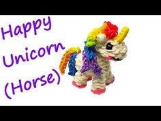 Happy Unicorn (Horse) Tutorial by feelinspiffy (Rainbow Loom), My Crafts and DIY Projects