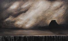 Wild West Edge Of Tomorrow, Wild West, Celestial, Landscape, Canvas, Painting, Outdoor, Art, Tela